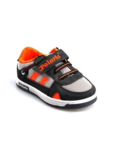 Polaris 506061 Gri-Turuncu Erkek Çocuk Bebe Günlük Sneaker Ayakkabı Gri